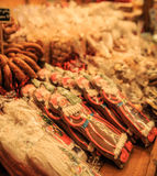 Mercado tradicional do Natal Fotografia de Stock Royalty Free