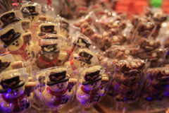 Mercado tradicional do Natal Imagens de Stock Royalty Free