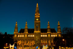 Mercado tradicional do Natal em Viena foto de stock