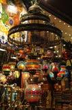 Mercado turco: Candelabro Foto de Stock Royalty Free