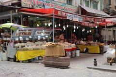 Mercado turco de la comida Imágenes de archivo libres de regalías