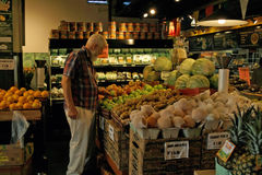 Mercado, Vancôver norte B.C., Canadá Fotografia de Stock