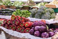 Mercado vegetal chino Fotos de archivo