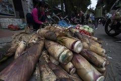 Mercado vegetal em Lao Cai, Vietname foto de stock royalty free