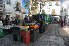 Mercado vegetal en Granada, Andalucía Fotos de archivo libres de regalías