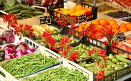Mercado vegetal francês Fotografia de Stock Royalty Free