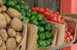 Mercado vegetal tradicional Imagens de Stock