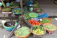 Mercado vegetal Vietname Fotografia de Stock
