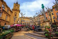 Mercado velho da cidade de Aix-en-Provence, França Foto de Stock Royalty Free