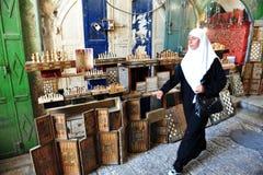 Mercado velho da cidade de Jerusalem Foto de Stock