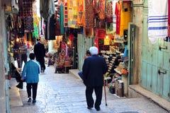 Mercado velho da cidade de Jerusalem Fotografia de Stock