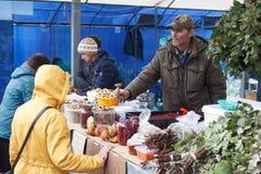 Mercado venta 21 de septiembre de 2016 ruso Fotografía de archivo