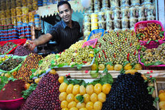 Mercado verde oliva en Marruecos imágenes de archivo libres de regalías