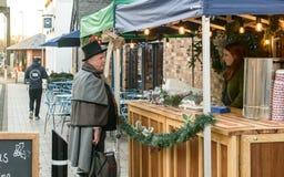 Mercado victoriano de la Navidad - muelles 10 de Gloucester fotografía de archivo libre de regalías