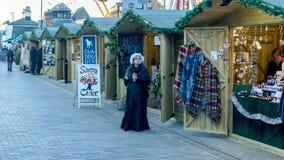 Mercado victoriano de la Navidad - muelles 6 de Gloucester foto de archivo