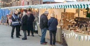 Mercado victoriano de la Navidad - muelles 32 de Gloucester imagenes de archivo