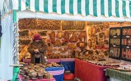 Mercado victoriano de la Navidad - muelles 36 de Gloucester fotos de archivo