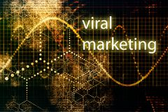 Mercado viral Fotografia de Stock Royalty Free