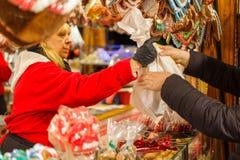 Mercado Weihnachtsmarkt de la Navidad de la tradición Fotografía de archivo libre de regalías