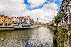 Mercado y alrededores de Bilbao Foto de archivo