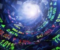 Mercado y huracán de acción Imagenes de archivo