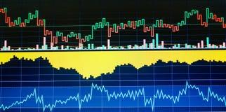 Mercado y otro de acción temas de las finanzas Concepto de los datos de las finanzas imagen de archivo libre de regalías