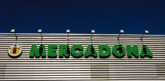 Mercadona supermarket Madrid Spain Stock Photography