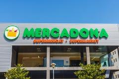 Mercadonasupermarkt, Spanje royalty-vrije stock afbeeldingen