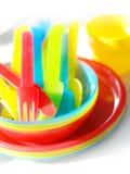 Mercadorias coloridos do piquenique Fotos de Stock Royalty Free