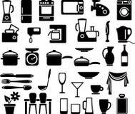 Mercadorias da cozinha e aparelhos electrodomésticos Foto de Stock
