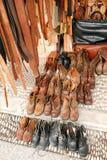 Mercadorias de couro do artesanato Imagem de Stock