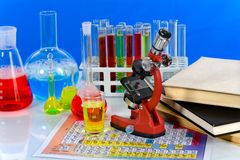 Mercadorias do laboratório Fotografia de Stock Royalty Free