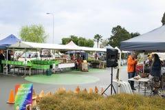 Mercados da vila de sábado fotos de stock