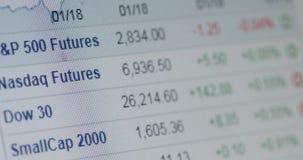 Mercados de acción e información sobre los precios almacen de video