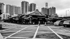 Mercados de la fruta al por mayor en el distrito de Yau Ma Tei foto de archivo