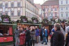 Mercados de la Navidad en el mercado de la col en Brno Fotografía de archivo libre de regalías