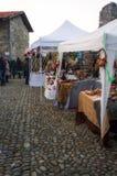 Mercados de la Navidad Imagen del color Imagen de archivo