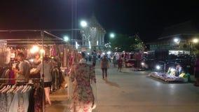 Mercados de la noche en Samut Prakan, Tailandia almacen de video