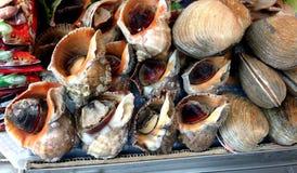 Mercados de los mariscos de Seul, Corea del Sur Foto de archivo libre de regalías