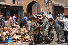 Mercados de Marrakesh Medina Foto de archivo