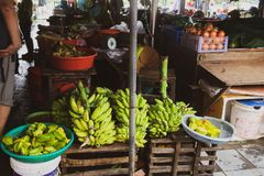 Mercados de rua do fruto de Vietnam, 3Sudeste Asiático Venda nos mercados das cidades do turista de Vietname, sul do fruto e da p foto de stock