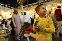 Mercados de Souq en Doha Foto de archivo libre de regalías