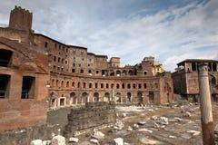 Mercados de Trajan en Roma, Italia Fotografía de archivo
