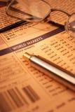 Mercados de valores de acção Fotos de Stock