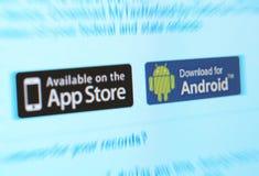 Mercados do App Imagens de Stock Royalty Free