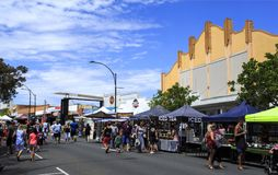 Mercados do molhe de Redcliffe foto de stock royalty free
