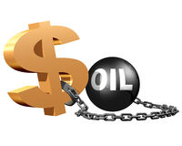 Mercados do petróleo Foto de Stock