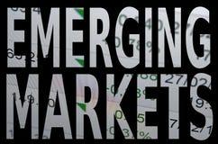 Mercados emergentes Imagenes de archivo