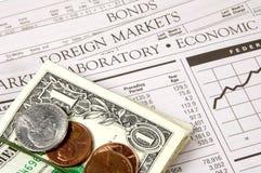 Mercados financeiros Imagem de Stock