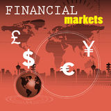 Mercados financeiros Foto de Stock